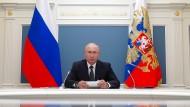 Januskopf: Präsident Putin wird wohl weiter Präsident Putin bleiben.