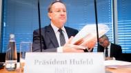Felix Hufeld, scheidender Präsident der Bundesanstalt für Finanzdienstleistungsaufsicht, nimmt im September 2020 an der Sondersitzung des Finanzausschusses im Bundestag teil.
