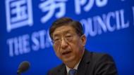 Zeng Yixin, der stellvertretende Leiter der Nationalen Gesundheitskommission, am 22. Juli 2021 in Peking