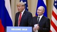 Trump und Putin in Helsinki im Juli 2018