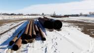 Rohre für die Pipeline Keystone XL in Kanada