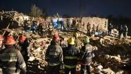 In Gandscha, der zweitgrößten Stadt Aserbaidschans, sind in der Nacht zum Samstag Raketen in einem Wohnviertel eingeschlagen