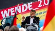 Jörg Meuthen spricht beim Wahlkampfauftakt der AfD zur Landtagswahl in Brandenburg.