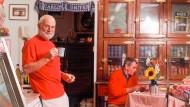"""Oliver Sacks im New Yorker Lebensmittelladen """"Myers of Keswick"""", wo britische Waren angeboten werden"""