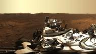Nasa-Rover sendet erstes hochaufgelöstes Panoramabild