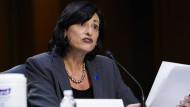 Die Direktorin der amerikanischen Gesundheitsbehörde CDC, Dr. Rochelle Walensky, während einer Senatsanhörung