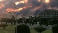 Die saudische Ölraffinerie in Abqaiq nach dem Anschlag