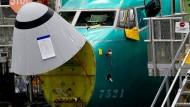Boeing 737 Max in einem Boeing-Werk