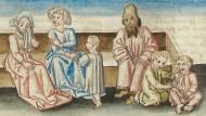 Abbildung aus dem besprochenen Band: Ersehnte, verweigerte und bereute Elternschaft im Mittelalter.