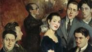 Die Groupe des Six und mittendrin die Pianistin Marcelle Meyer. Gemälde von Jacques-Émile Blanche, 1922