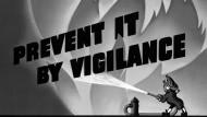 Mit Wachsamkeit gegen Sabotage: Propaganda-Plakat aus dem Zweiten Weltkrieg