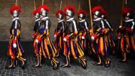 Die päpstliche Schweizergarde im Vatikan