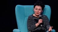 Spezialistin für den Aufbau von Spannungsbögen: Die polnische Literaturnobelpreisträgerin Olga Tokarczuk auf einer Lesung