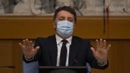 Matteo Renzi bei einer Pressekonferenz in Rom.