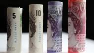 Britische Geldscheine