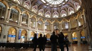 Holy Hall: View of the Madrid Stock Exchange building