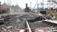 Brennpunkt: Großbaustelle an der Rheintalbahn in Baden-Württemberg