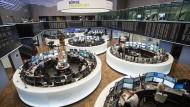 Blick in den Handelssaal der Frankfurter Börse.