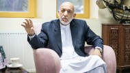 Hamid Karzai, von 2001 bis 2014 Präsident Afghanistans, am 15.Juli in seinem Büro im Regierungsviertel in Kabul