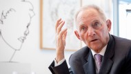 Wolfgang Schäuble am 16. April in seinem Büro in Berlin