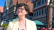 Die SPD-Parteivorsitzende Saskia Esken bei ihrem Besuch am Montag in Calw