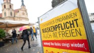 Warnschild in Ludwigsburg