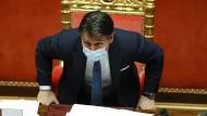 Regierungskrise in Italien: Ministerpräsident Conte kündigt Rücktritt an