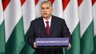 Viktor Orbán am Sonntag in Budapest