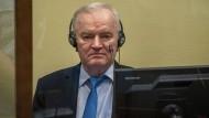 Ratko Mladic am Dienstag in Den Haag