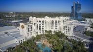 Genau genommen sind es drei Hotels, die den Komplex um die bewohnbare Gitarre in Hollywood (bei Miami) bilden.
