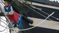 Sticht nicht mehr in See - und macht nicht einmal mehr Abstecher: Die «Seute Deern» im Becken des Museumshafens von Bremerhaven