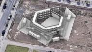 """Theater der Corona-Zukunft: Simulation des geplanten """"Sommerbaus"""""""