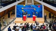 Neuer Chef gesucht: Andrea Nahles nach der Europawahl in der SPD-Parteizentrale, dem Willy-Brandt-Haus.