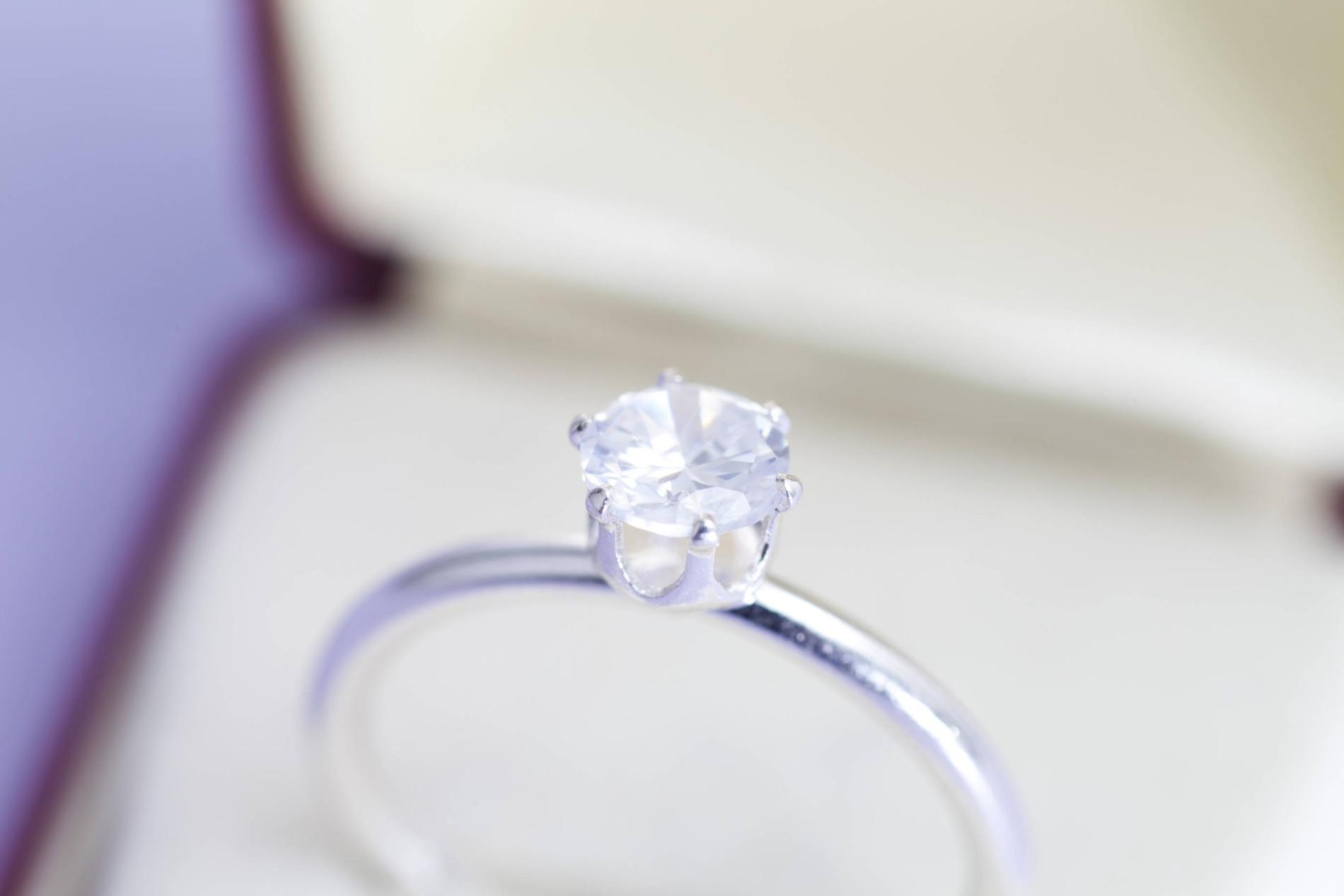 Ring Heiratsantrag Verlobung Swarovski Elements Brillantschliff