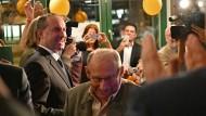 Mann der Stunde: Hubert Aiwanger auf der Wahlparty der Freien Wähler am Sonntagabend.