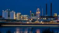 Blick auf das Werksgelände in Leverkusen