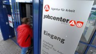 Hier gibts Geld: Jobcenter in Erfurt.