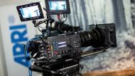 Filmkamera in einem Studio