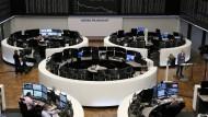 Der Handelsaal der Frankfurter Börse