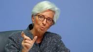 Die Präsidentin der Europäischen Zentralbank Christine Lagarde