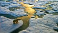 Klimawandel: Das einst ewige Eis schmilzt,  Gletscher schrumpfen.