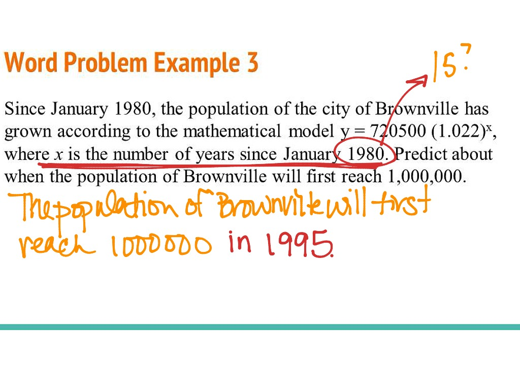 Solving Exponential Word Problems How To Solve