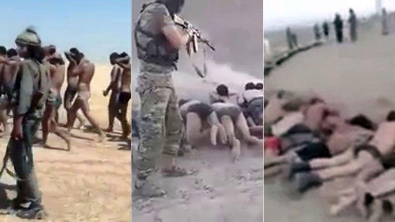 estado islamico traslado prisioneros y ejecución