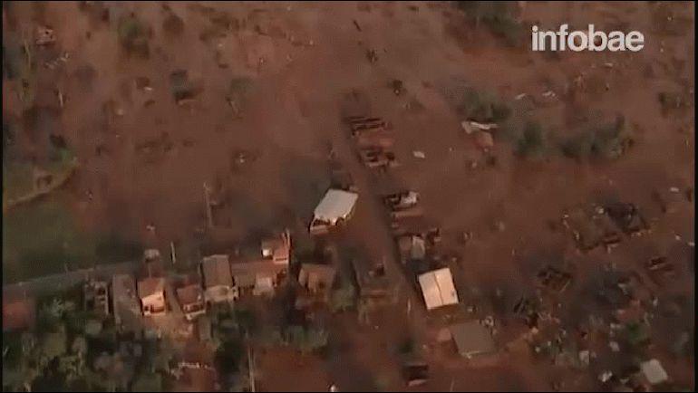 La represa se rompió en el distrito de Bento Rodrigues de Mariana, en la región central de Minas Gerais