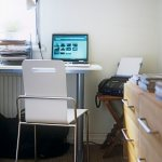 A Modern Home Office With Desk Chair Buy Image 708684 Living4media