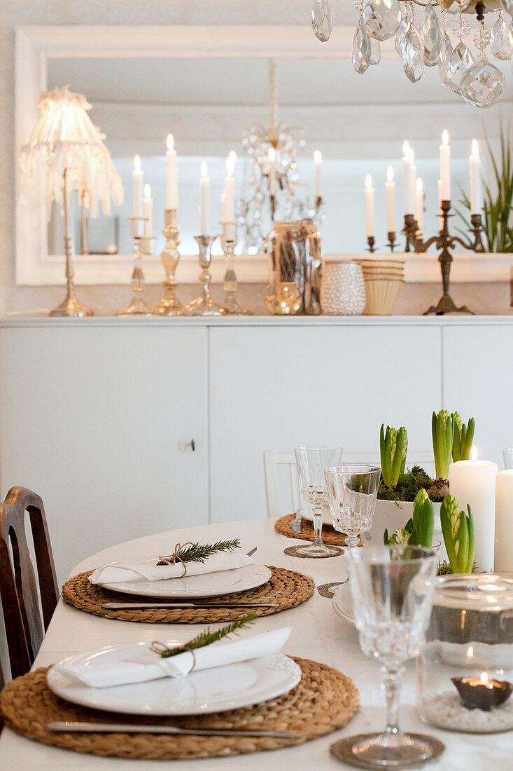 View Across Set Dining Table To Tall Buy Image 12531738 Living4media