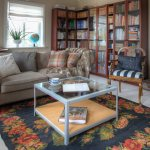 Coffee Table On Floral Rug Sofa And Buy Image 11302523 Living4media