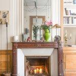 Brennende Kerzen Im Kamin Mit Alter Bild Kaufen 12264753 Living4media