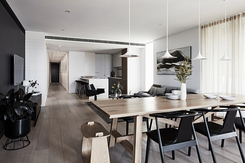 Modern Open Plan Interior With Colour Buy Image 12671863 Living4media