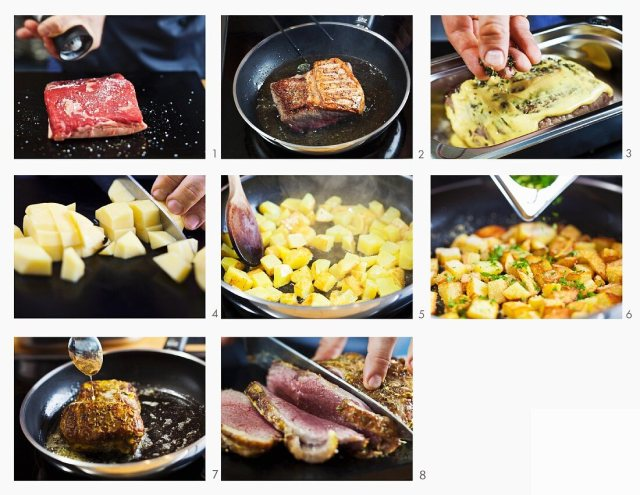 How to make roast beef with breadcrumb  – License image